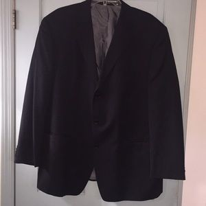 CALVIN KLEIN black suit  + pants 100% Wool